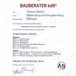 Bauberater kdR Zertifikat